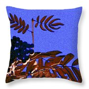 Mountain Ash Design Throw Pillow