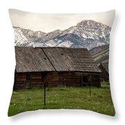 Mountain Barn Throw Pillow