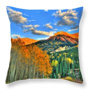 Mountain Beauty Of Fall Throw Pillow