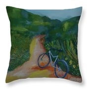 Mountain Biking In The Santa Monica Mountains Throw Pillow