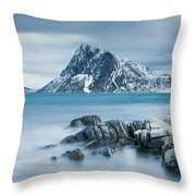 Mountain Blues Throw Pillow