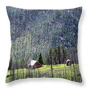 Mountain Cabin Throw Pillow