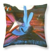 Mountain Ciser Throw Pillow