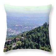 Mountain City Dharamshala Throw Pillow