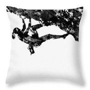 Mountain Climber-black Throw Pillow