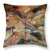 Mountain Collage Throw Pillow