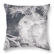 Mountain Cottontail Throw Pillow