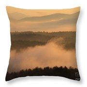 Mountain Dawn Fog Throw Pillow