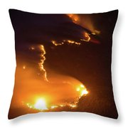 Mountain Fire Throw Pillow