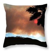 Mountain Fire Sunset Throw Pillow