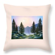 Mountain Firs Throw Pillow