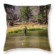 Mountain Fisherman Throw Pillow