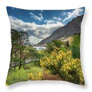 Mountain Flora Throw Pillow