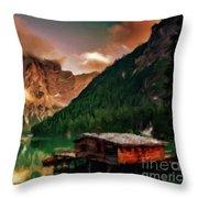 Mountain Getaway Throw Pillow