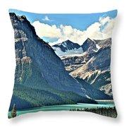 Mountain Glacier And Lake  Throw Pillow