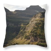 Mountain Glacier Throw Pillow
