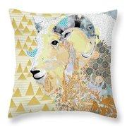 Mountain Goat Collage Throw Pillow