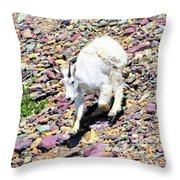 Mountain Goat3 Throw Pillow