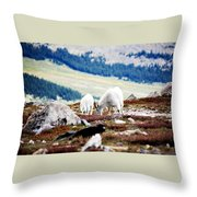 Mountain Goats 2 Throw Pillow