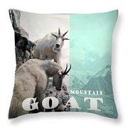 Mountain Goats Throw Pillow