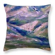 Mountain Gorge Italian Alps Throw Pillow