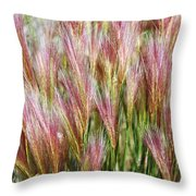 Mountain Grass Throw Pillow