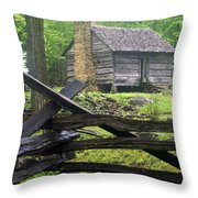 Mountain Homestead Throw Pillow