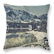 Mountain Lake, California Throw Pillow