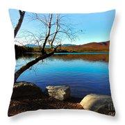 Mountain Lake Chocorua Throw Pillow