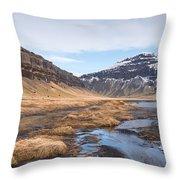 Mountain Landscape Iceland Throw Pillow