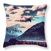 Mountain  Landscape Vista Throw Pillow