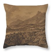 Mountain Landscape With A Hollow Throw Pillow