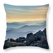 Mountain Layers Throw Pillow