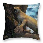 Mountain Lion - Paint Fx Throw Pillow