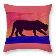 Mountain Lion Silhouette Throw Pillow
