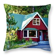 Mountain Lodging Throw Pillow