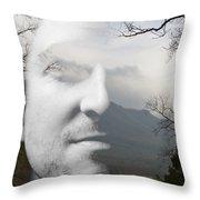 Mountain Man Throw Pillow