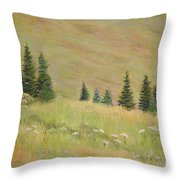 Mountain Meadow Throw Pillow