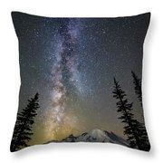Mountain Milky Way Throw Pillow