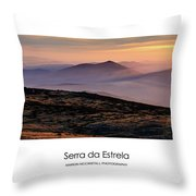 Mountain Mist Poster Throw Pillow