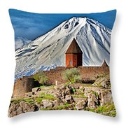 Mountain Monastery Throw Pillow