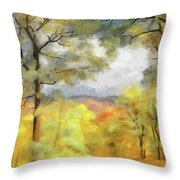 Mountain Morning Throw Pillow by Lois Bryan