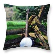 Mountain Music Throw Pillow
