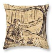 Mountain Oasis Throw Pillow