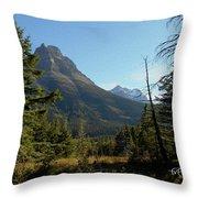 Mountain Opening Throw Pillow