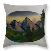 Mountain Oval Throw Pillow