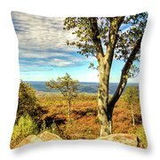 Mountain Overlook At High Point New Jersey Throw Pillow