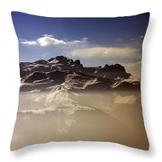 Mountain Panorama And Mist Les Gets Portes Du Soleil Morzine Haute Savoie France Throw Pillow