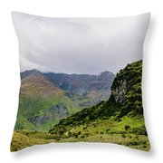 Mountain Path Vert Throw Pillow