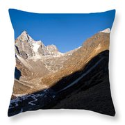 Mountain Peak, Kumuche Himal Throw Pillow